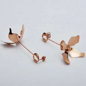 Rose Gold Petal Earrings